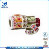 Étiquettes liquides de collants de vaisselle de multicolores