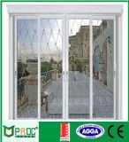 Puerta deslizante de aluminio de Pnoc080314ls con el panel doble