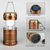 태양 강화된 확장 가능한 재충전용 6 SMD LED 야영 손전등