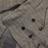 Retro vertikale Streifen-Klage-Revers mit Double-Breasted Pantsuit