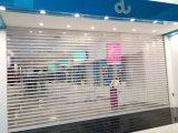 Le plastique transparent, boutique de porte de roulement du rouleau de porte de l'obturateur de cristal en plastique