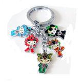 Kundenspezifische Metallzeichen-Tierfirmenzeichen-Decklack-Schlüsselkette