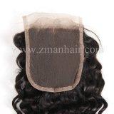 良質のねじれた巻き毛の人間の毛髪の部分