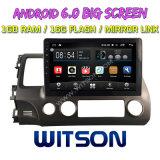 """Witson 10,2"""" большой экран Android 6.0 DVD для Honda гражданского 2006-2009"""