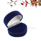 Schwarzes blaues Rosen-Entwurfs-Samt-Inner-Form-Geschenk-verpackenkasten - Rechtssache 3