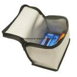 Aluminizado de fibra de vidrio de aislamiento térmico de silicona resistente al fuego de la bolsa de dinero en efectivo