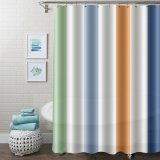 Anti-Bacterial New Design Shower Curtains with Rustproof Grommets Metal