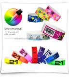 Wristband de papel disponible de la fábrica RFID para los acontecimientos