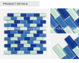 De blauwe van het Overzeese van de Kleur Glanzende Tegels van het Mozaïek Zwembad van het Glas Antislip