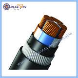 240mm Câble blindé 4 conducteurs en polyéthylène réticulé de Cu/XLPE/swa/PVC IEC60502-1 600/1000V