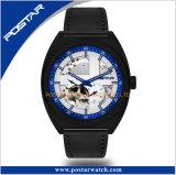 Montre-bracelet squelettique automatique d'hommes de chronographe de cadran du Japon de qualité