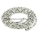 De Halsband van de Ketting van de Bal van het Roestvrij staal van het Metaal van de manier