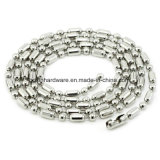 Esfera de Aço Inoxidável de metal de moda Colar de corrente