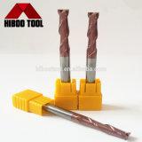 Fresas planas del CNC de las flautas largas de la alta precisión HRC55 para la madera