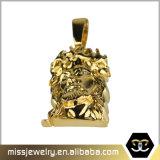 Pendant Mjhp092 de partie de face de Jésus d'or italien du placage 18K de PVD