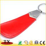 PU modificada para requisitos particulares alta calidad Keychain de cuero de Keychain de la insignia del coche