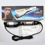 Tela plana de vapor profissional ferro alisador de cabelo eléctrico de cerâmica de vapores de escova de alisamento de cabelo Steampod Visor LCD 100-240V