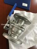JIS de acero inoxidable de 10K de diámetro interior completo de la válvula de bola flotante
