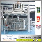 Il riso automatico orizzontale, macchina imballatrice di riempimento del sacchetto del granello per si leva in piedi in su i sacchetti, la chiusura lampo Doypack