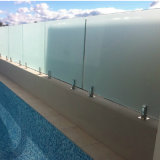 Zipolo di vetro Polished dell'inferriata di Frameless dell'acciaio inossidabile di rivestimento per la piscina