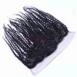 Hochwertiges brasilianisches Jungfrau-Haar-verworrene Rotation des Spitze-frontales Schliessen-freies Teil-13X4
