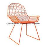 A mobília do pátio jardim exterior de malha metálica cadeiras de jantar