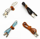 Máximos de cuero del Pin del micr3ofono del cable durable colorido 8 del USB a 2.4A ayunan cable de datos de carga del USB para el iPhone del IOS 6 6s más 5s 5 Ipadmini