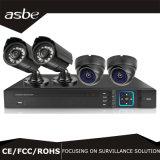 960p 실내 옥외 비바람에 견디는 CCTV 사진기 4CH 감시 카메라 시스템 DVR 기록병