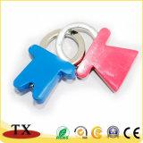 Kundenspezifische Geliebte Ring-Zieht Metallzink-Legierungs-Schlüsselkette für fördernde Geschenke