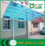 Armazón de aluminio cochera con techo de policarbonato para residencial (252CPT)