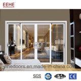 Puerta de vidrio de desplazamiento de aluminio del balcón con la red de mosquito para opcional