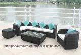Sofá ao ar livre impermeável do Rattan da mobília barata do jardim do pátio (TG-1013)