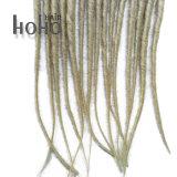 総合的な毛の単一の終了されたブロンドの18インチBackcombedは恐れる