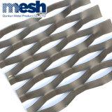 Maglia d'acciaio del piatto d'acciaio della decorazione della maglia del piatto del diamante del metallo di Expaned