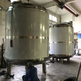 섞는 교반기를 가진 식힌 물 냉각 재킷 탱크
