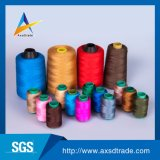 Tela tingida/da cor bordado do poliéster da linha Sewing para calças de brim Knittingweaving