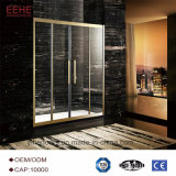 Pièce de douche de luxe populaire en verre de glissement de Frameless de cabine de douche