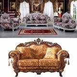 Insiemi della mobilia del salone con il sofà di legno del tessuto (929E)