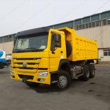 Sinotruk HOWO Rhd/LHD 6X4 덤프 트럭 황색 팁 주는 사람 트럭