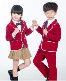 Logotipo feito sob encomenda da mola e do projeto dos uniformes do jardim de infância das fardas da escola do outono