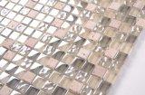 La decoración de fondo natural 30*30 de mármol, azulejos de mosaico de piedra de cristal