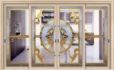 Puerta deslizante de cristal del estilo del diseño europeo de la parrilla para la residencia