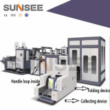 Bolso puesto Non-Woven automático del paquete del rectángulo del vino que hace la máquina