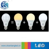 Tres colores de LED Bombilla regulable brillo ajustable sin Dimmer