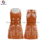 Netball команды Bodysuits форм Cheerleading рубашки полиэфира Spandex нового продукта изготовленный на заказ