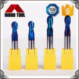 Coupeurs de fraisage de nez de bille de haute précision pour des machines-outilles à commande numérique