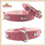 질 2 색깔 애완 동물 가죽 고리 또는 개 고양이 고리 (KC0049)