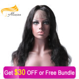 Alimina 100 perruques brésiliennes de lacet de cheveu droit de Vierge pleines