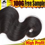 100% человеческие волосы, бразильское выдвижение волос объемной волны