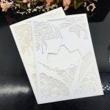 Qualitäts-Laser-Schnitt-Perlen-Papierhochzeits-Einladungs-Karten